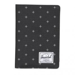 Herschel folder Raynor + Passport Holder black gridlock 10373-01577